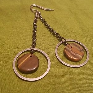 Handmade Tiger's Eye earrings